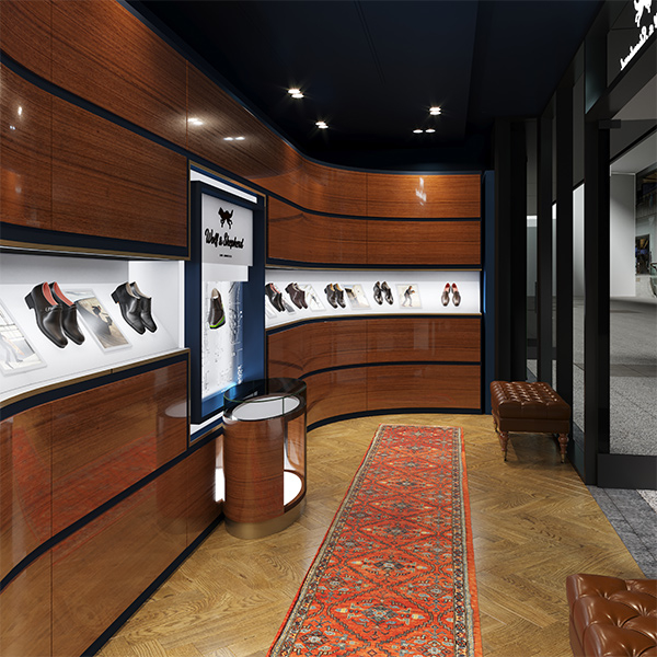 Wolf and Shepherd Shoe Store Interior Design